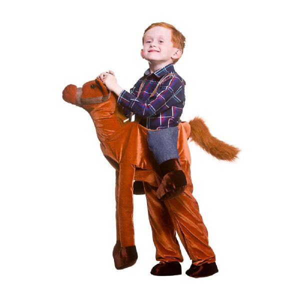 Childrens Deluxe Ride On Horse Costume Unisex Fancy Dress